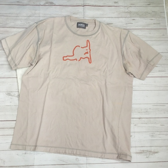 Other - nokia mens l snowboard tshirt tan orange 100% cott
